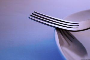 Blue fork